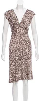 Diane von Furstenberg Silk V-Neck Sleeveless Dress