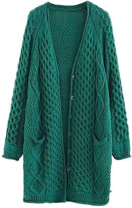 Goodnight Macaroon 'Bess' Twisted Cable Knit Long Cardigan (5 Colors)