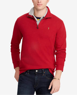 Polo Ralph Lauren Men's Big & Tall Half-Zip Cotton Pullover