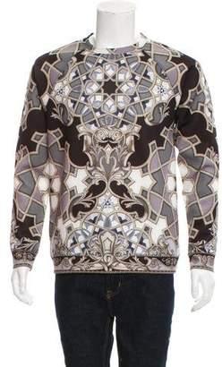 Versace Barocco Print Neoprene Sweatshirt
