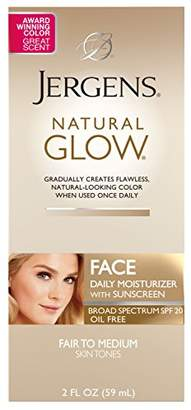 Jergens Natural Glow Oil-Free Daily Moisturizer for Face with Broad Spectrum SPF 20