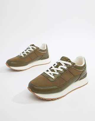 Pull&Bear trainer in Green