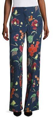 Diane von Furstenberg Wide legged Silk Blend Pants $368 thestylecure.com