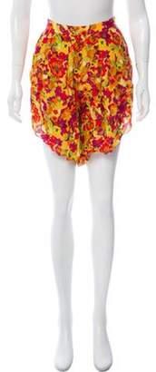 Adriana Degreas Silk Knee-Length Shorts w/ Tags Yellow Silk Knee-Length Shorts w/ Tags