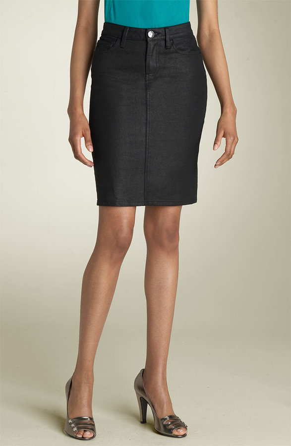 MARC BY MARC JACOBS Denim Skirt (Black Coated)