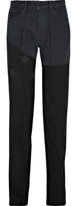 Ronald Van Der Kemp Appliquéd High-Rise Flared Jeans