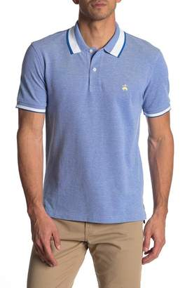 Brooks Brothers Stripe Tipped Knit Polo