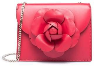 Oscar de la Renta Ruby Leather Mini Tro Bag