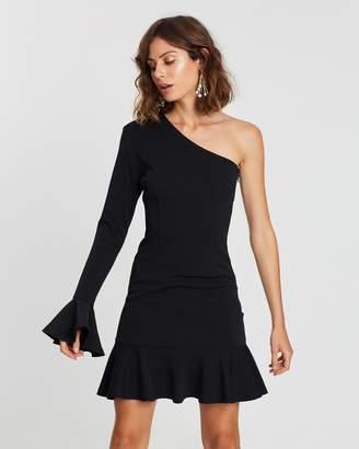 Atmos & Here One-Shoulder Ruffle Dress