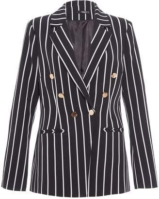 Quiz Black And White Stripe Blazer