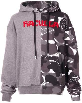 Haculla split camouflage hoodie