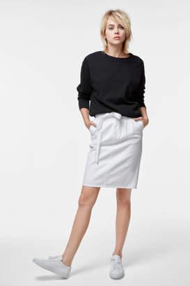 J Brand Tie-Waist Skirt In White
