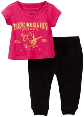 True Religion Buddha Tee & Jogger Set (Baby Girls)