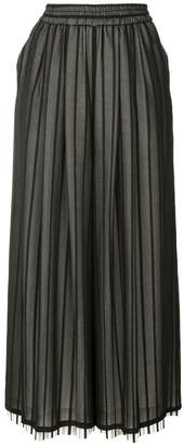 Puma Maison Yasuhiro wide leg striped trousers