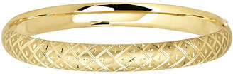 JCPenney FINE JEWELRY Infinite Gold 14K Yellow Gold Textured Hollow Bangle Bracelet