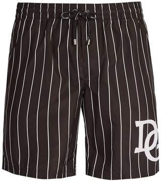 Dolce & Gabbana varsity stripe logo swim shorts