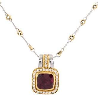 Frederic Sage 18K Diamond & Rhodolite Pendant Necklace