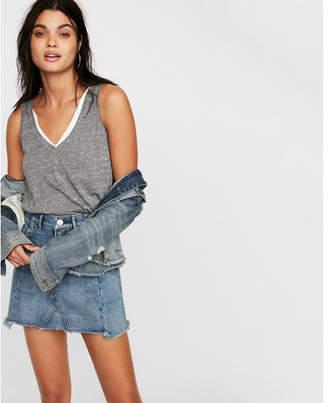 Express slim a-line denim mini skirt