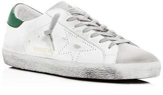 Golden Goose Men's Superstar Distressed Leather Low-Top Sneakers