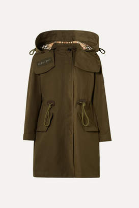 Burberry Oversized Hooded Cotton-gabardine Parka - Army green