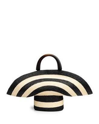 Eugenia Kim Large Striped Woven Beach Tote Bag