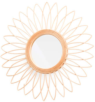 A&B Home Rattan Starburst Wall Mirror