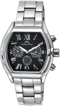 Br.Uno Porsamo Bleu Men's Men's Silver Tone Black Dial Watch