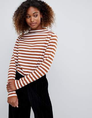 Weekday high neck stripe oversized top