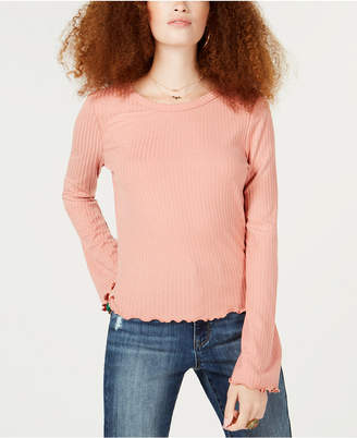 American Rag Juniors' Lace-Up Ribbed Top