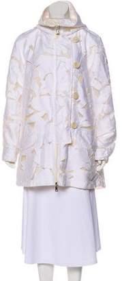 Moncler Hooded Pistache Coat