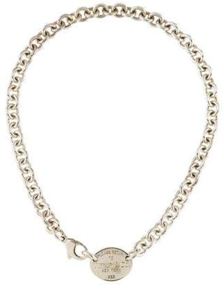 Tiffany & Co. Oval Tag Choker