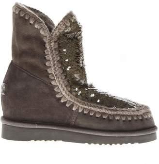 Mou Eskimo Mud Suede Sequins Boots