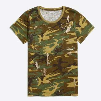J.Crew Factory Glitter camouflage collector T-shirt