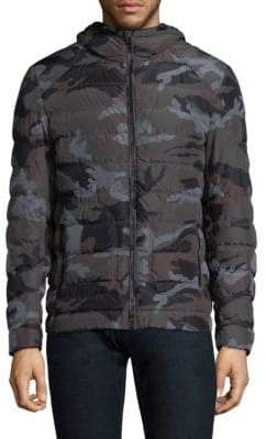 Belstaff Hooded Camo Puffer Jacket