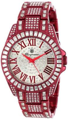 Burgmeister Bollywood Women's Quartz Watch with Silver Dial Analogue Display and Red Bracelet BM159-014