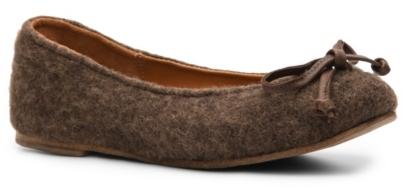Vintage Shoe Company Morgan Heathered Wool Flat