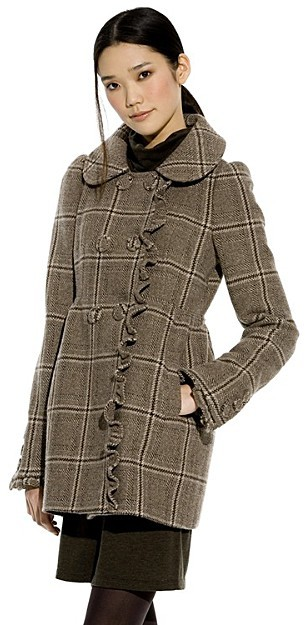 Juicy Couture Oversized Coat with Ruffle Detail