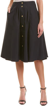 Vince Button Front Skirt