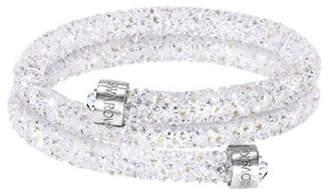 Swarovski Crystaldust Crystal and Stainless Steel Bangle Bracelet