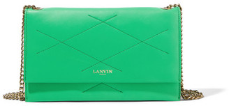 Lanvin - Quilted Leather Shoulder Bag - Green $790 thestylecure.com