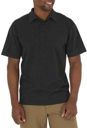 Wrangler Big Men's Short Sleeve Tri-Blend Polo