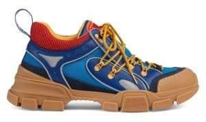 Gucci Flashtrek Leather& Canvas Sneaker