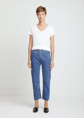 RE/DONE High Rise Stove Pipe Crop Jeans