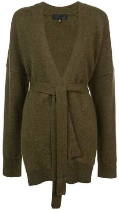 Nili Lotan belted fitted cardigan