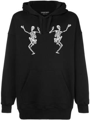 Alexander McQueen dancing skeleton embellished hoodie