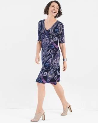 Paisley Cross-Back Dress