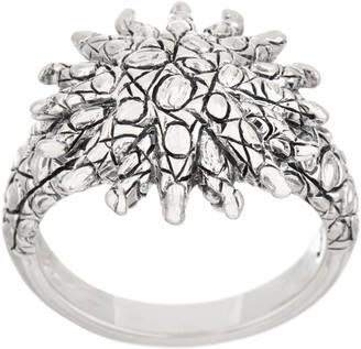 Croco Jai JAI Sterling Silver Texture Sunburst Ring