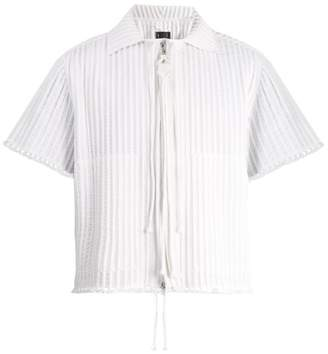 Craig Green Piped Zip Through Cotton Shirt - Mens - White