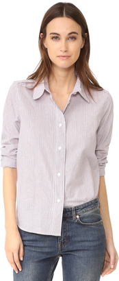 A.P.C. Mike Button Down Shirt $195 thestylecure.com