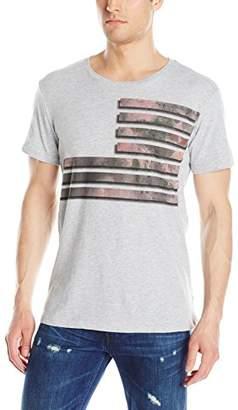 William Rast Men's Graphic Flag Mixed Camo Tee Shirt